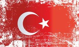 Flagge von der Türkei, geknitterte schmutzige Stellen vektor abbildung