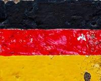 Flagge von Deutschland auf Betonmauer Stockfotografie