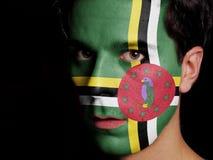 Flagge von Dominica stockbilder