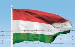 Flagge von Drähten stockbilder