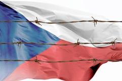 Flagge von Drähten lizenzfreie stockfotografie