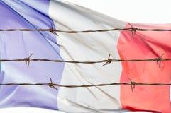 Flagge von Drähten lizenzfreie stockfotos