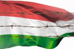 Flagge von Drähten stockfotos