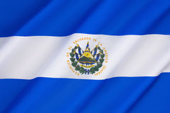 Flagge von El Salvador Stockbild