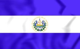 Flagge von El Salvador Stockfotografie