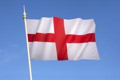 Flagge von England - Vereinigtem Königreich Stockfotografie