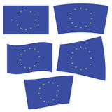 Flagge von Europa Stockfotos