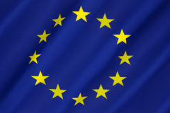 Flagge von Europa - Europäische Gemeinschaft Lizenzfreies Stockbild