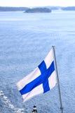 Flagge von Finnland Lizenzfreies Stockfoto