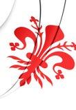 Flagge von Florence City, Italien Lizenzfreies Stockfoto