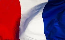 Flagge von Frankreich Stockfotografie