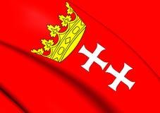 Flagge von Gdansk, Polen Stockbild