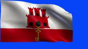 Flagge von Gibraltar - SCHLEIFE stock abbildung