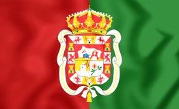 Flagge von Granada-Stadt, Spanien vektor abbildung