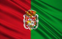 Flagge von Granada - Stadt und Stadtbezirk in Spanien lizenzfreie abbildung