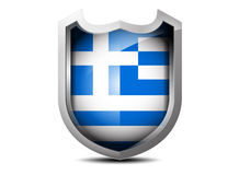 Flagge von Griechenland Lizenzfreies Stockbild