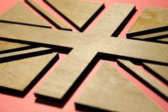 Flagge von Großbritannien, Design für Postkarte lizenzfreie stockfotos