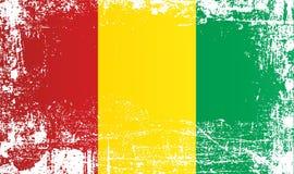 Flagge von Guinea, Afrika Geknitterte schmutzige Stellen lizenzfreie abbildung