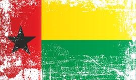 Flagge von Guinea-Bissau, Afrika Geknitterte schmutzige Stellen lizenzfreie abbildung