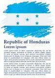 Flagge von Honduras, Republik Honduras Schablone f?r Preisentwurf, eine amtliche Urkunde mit der Flagge von Honduras stock abbildung