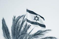 Flagge von Israel. Stockfotografie