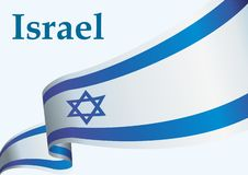 Flagge von Israel, der israelische Staat, helle, bunte Vektorillustration vektor abbildung