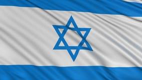 Flagge von Israel entwickelt sich langsam im Wind stock footage