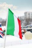 Flagge von Italien in der Stadt Lizenzfreies Stockbild