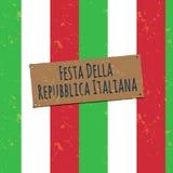 Flagge von Italien im nahtlosen Muster Lizenzfreies Stockbild