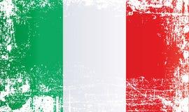 Flagge von Italien, italienische Republik Geknitterte schmutzige Stellen lizenzfreie abbildung