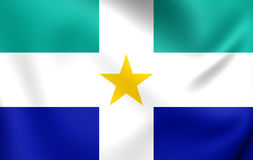 Flagge von Itapecerica DA Serra City Sao Paulo State, Brasilien Lizenzfreie Stockfotografie