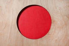 Flagge von Japan, Kreis schnitzte in einen Baum stockbild
