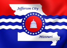 Flagge von Jefferson City, Missouri Stockfotografie