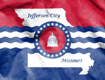 Flagge von Jefferson City, Missouri USA Stockbilder