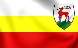 Flagge von Jelenia Gora City, Polen Lizenzfreies Stockfoto