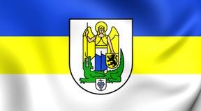 Flagge von Jena City Thuringia, Deutschland Lizenzfreies Stockbild