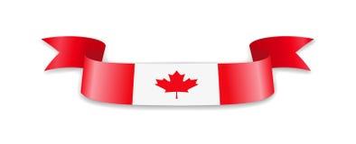 Flagge von Kanada in Form von Wellenband Lizenzfreie Abbildung