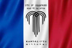 Flagge von Kansas City-Stadt, Missouri US lizenzfreie abbildung