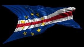 Flagge von Kap-Verde stock abbildung