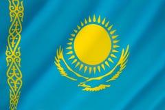 Flagge von Kasachstan - kasachische Flagge Stockfoto