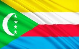 Flagge von Komoren, Moroni vektor abbildung