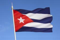 Flagge von Kuba - das Karibische Meer Lizenzfreies Stockfoto