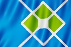 Flagge von La Plata Stadt, Argentinien Lizenzfreie Stockbilder