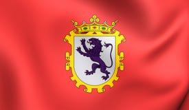Flagge von Leon City, Spanien Lizenzfreies Stockbild