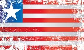 Flagge von Liberia, Afrika Geknitterte schmutzige Stellen vektor abbildung