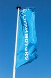 Flagge von Lifan-Motoren über blauem Himmel lizenzfreie stockbilder