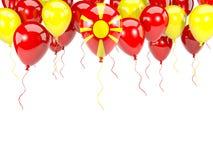Flagge von Macedonia auf Ballonen Lizenzfreie Stockbilder