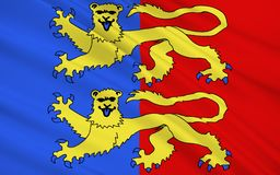 Flagge von Manche stockbilder