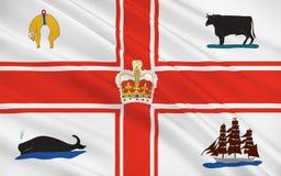 Flagge von Melbourne ist im australischen Staat von Victoria ernstlich lizenzfreie stockbilder