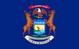 Flagge von Michigan, USA Lizenzfreies Stockbild